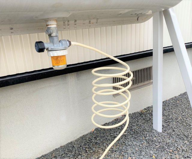 灯油タンクフィルターと送油パイプ交換
